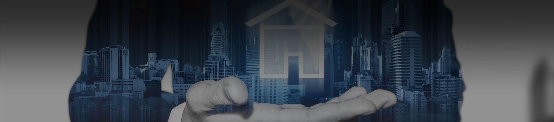 hologram domu trzymany na dłoni